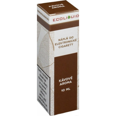 Liquid Ecoliquid Coffee 10ml - 0mg (Káva)