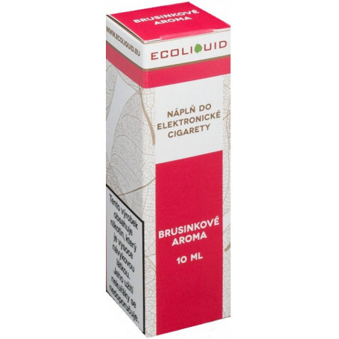 Liquid Ecoliquid Cranberry 10ml - 0mg (Brusinka)