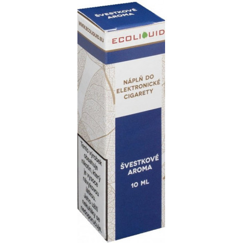 Liquid Ecoliquid Plum 10ml - 0mg (Švestka)