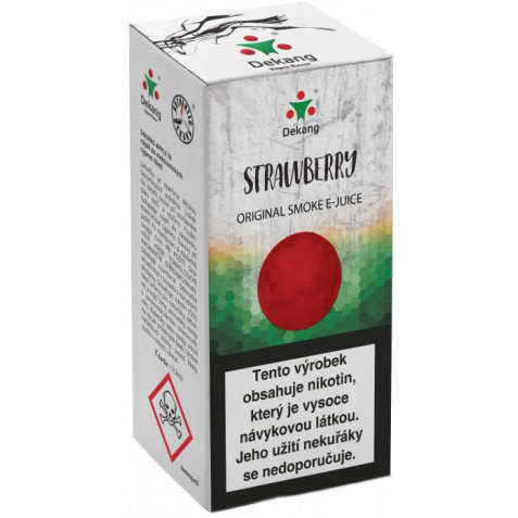 Liquid Dekang Strawberry 10ml - 6mg (Jahoda)