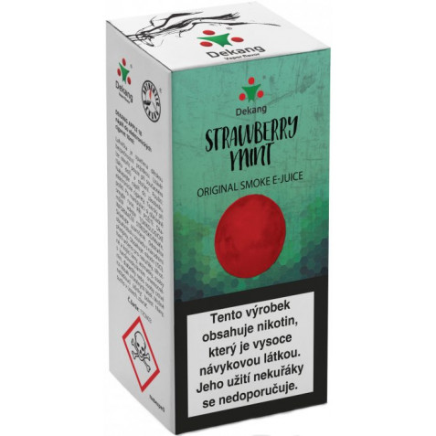 Liquid Dekang Strawberry mint 10ml - 16mg (Jahoda s mátou)