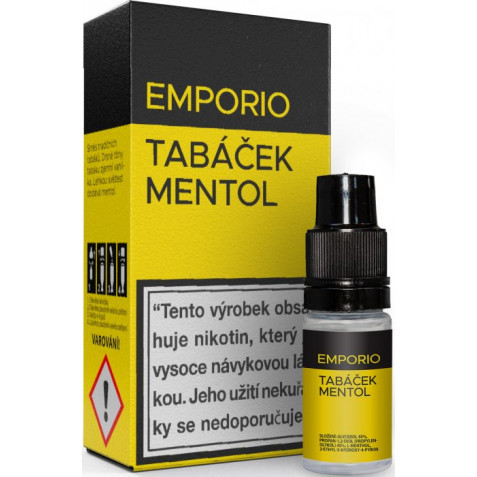 Liquid EMPORIO Tobacco - Menthol 10ml - 9mg