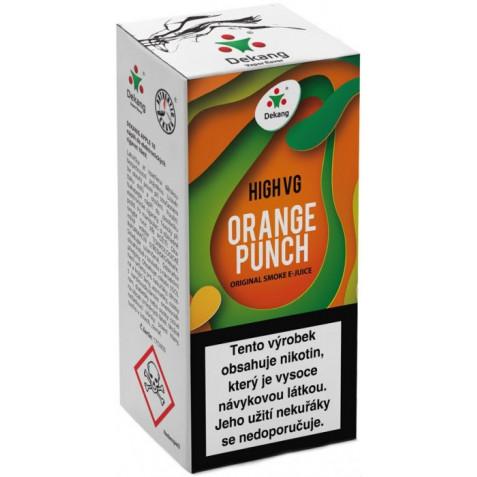 Liquid Dekang High VG Orange Punch 10ml - 1,5mg (Sladký pomeranč)