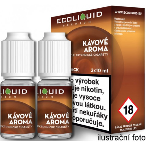 Liquid Ecoliquid Premium 2Pack Coffee 2x10ml - 12mg (Káva)