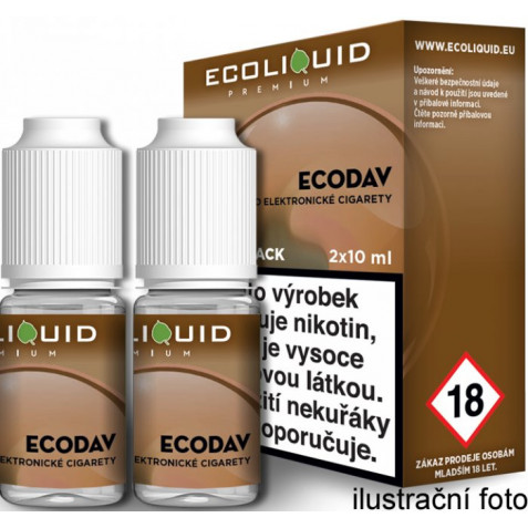 Liquid Ecoliquid Premium 2Pack ECODAV 2x10ml - 12mg