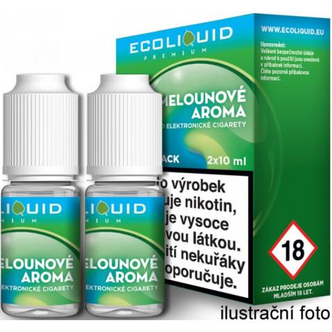 Liquid Ecoliquid Premium 2Pack ICE Melon 2x10ml - 6mg (Svěží meloun)