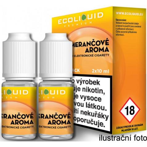 Liquid Ecoliquid Premium 2Pack Orange 2x10ml - 3mg (Pomeranč)