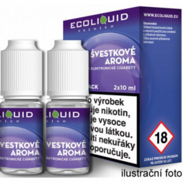 Liquid Ecoliquid Premium 2Pack Plum 2x10ml - 12mg (Švestka)