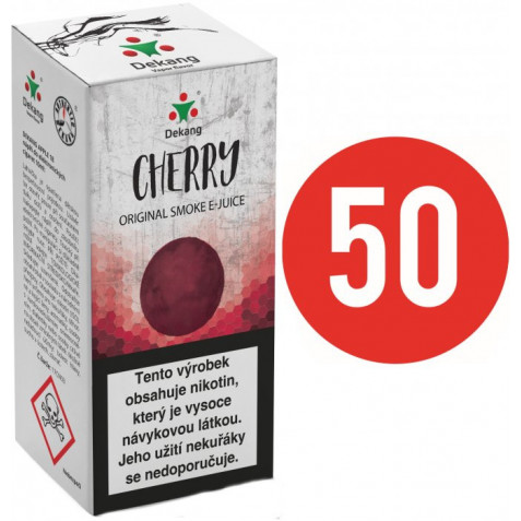 Liquid Dekang Fifty Cherry 10ml - 6mg (Třešeň)