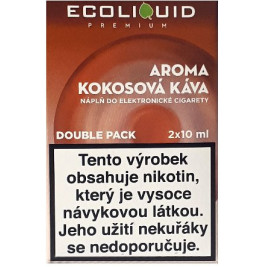 Liquid Ecoliquid Premium 2Pack Coconut Coffee 2x10ml - 12mg