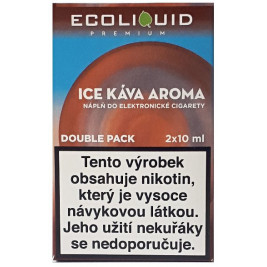 Liquid Ecoliquid Premium 2Pack Ice Coffee 2x10ml - 12mg