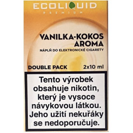 Liquid Ecoliquid Premium 2Pack Vanilla Coconut 2x10ml - 20mg