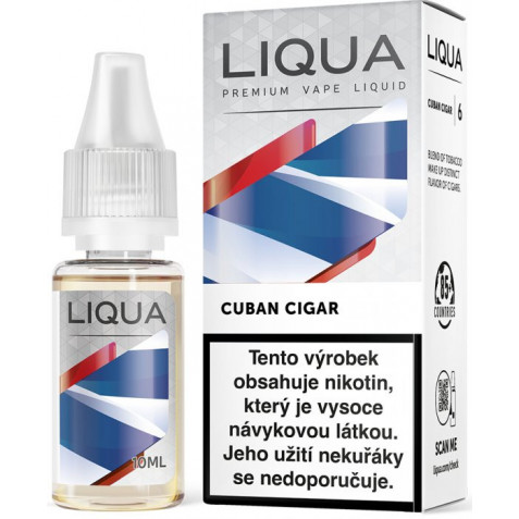 Liquid LIQUA CZ Elements Cuban Tobacco 10ml-3mg (Kubánský doutník)